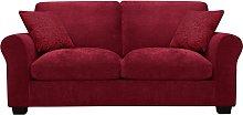 Argos Home Tammy 2 Seater Fabric Sofa bed - Wine