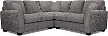 Argos Home Tammy Corner Fabric Sofa - Charcoal