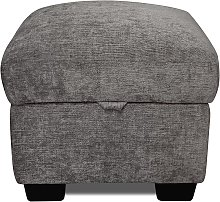 Argos Home Tammy Fabric Storage Footstool -