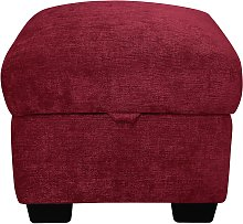 Argos Home Tammy Fabric Storage Footstool - Wine