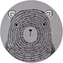 Argos Home Teddy Circle Cut Pile Rug - Grey -