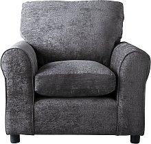 Argos Home Tessa Fabric Chair - Charcoal