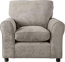 Argos Home Tessa Fabric Chair - Mink