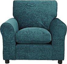 Argos Home Tessa Fabric Chair - Teal