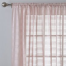 Argos Home Textured Voile Curtain Panel - Blush