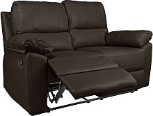 Argos Home Toby 2 Seat Faux Leather Recliner Sofa