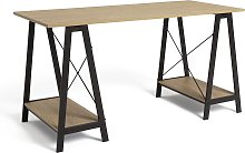 Argos Home Trestle Table Office Desk - Oak effect