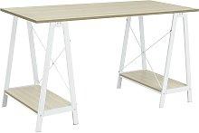 Argos Home Trestle Table Office Desk - White