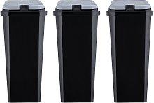 Argos Home Trio of Recycling Bins - Black