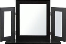 Argos Home Triple Dressing Table Mirror - Black