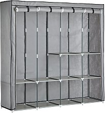 Argos Home Triple Modular Fabric Wardrobe - Grey