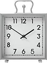 Argos Home Tuscany Square Mantel Clock - Silver