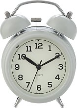 Argos Home Twin Bell Alarm Clock - Grey