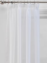 Argos Home Unlined Voile Curtain Panel - White