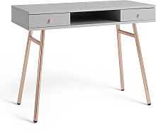 Argos Home Valence Office Desk - Rose Gold