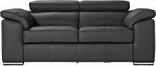 Argos Home Valencia 2 Seater Leather Sofa - Black