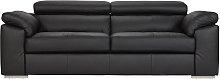 Argos Home Valencia 3 Seater Leather Sofa - Black