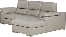 Argos Home Valencia Right Corner Leather Sofa -