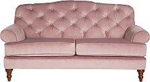 Argos Home Valerie 2 Seater Velvet Sofa - Blush
