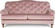 Argos Home Valerie 3 Seater Velvet Sofa - Blush
