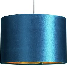 Argos Home Velvet Drum Shade - Teal