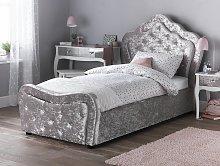 Argos Home Venice Crushed Velvet Single Bed Frame