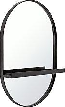 Argos Home Wall Mirror with Shelf - Black