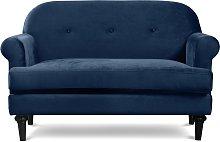 Argos Home Whitney 2 Seater Velvet Sofa - Blue
