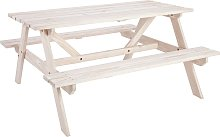 Argos Home Wooden 4 Seater Picnic Bench - White