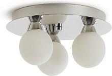 Argos Home Yuko 3 Light Bathroom Light - Chrome