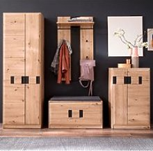 Argos Wooden Hallway Furniture Set In Planked Oak