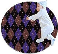 Argyle knit pattern, Round Area Rug Pattern Round