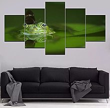 ARIE 5 Pcs Wall Art Butterfly With Cute Green Frog