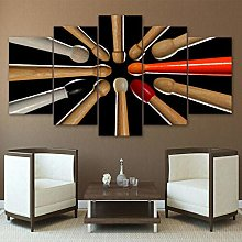 ARIE 5 Pieces Modern Canvas Painting Wall Art
