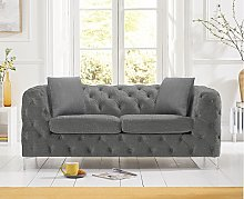 Ariel Grey Linen 2 Seater Sofa