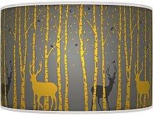 ARK HOUSE Stag Deer Mustard Yellow Grey Retro
