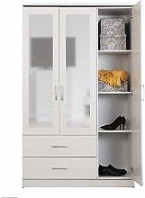 ARKFW Carlos Bedroom Furniture White Ash 3 Door