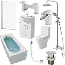 Arles Single End 1600mm Bathroom Suite- 550mm