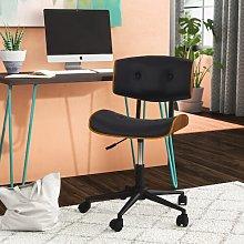 Arlon Desk Chair Blue Elephant Upholstery Colour: