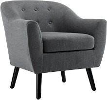 Armchair Blue Elephant Upholstery Colour: Dark Grey