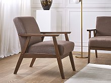 Armchair Brown Polyester Upholstery Retro Design