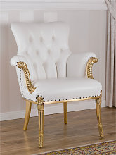 Armchair Katrin French Baroque style gold leaf