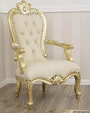 Armchair Luigi Filippo style 1800s French gold