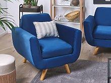 Armchair Slipcover Blue Velvet Replacement