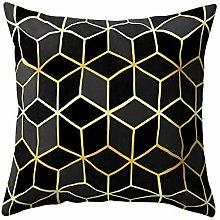 Armilum Home Throw Pillow Cases,Rose Black Gold