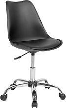 Armless Desk Chair Black DAKOTA II
