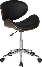 Armless Desk Chair Black ROTTERDAM