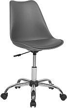 Armless Desk Chair Grey DAKOTA II