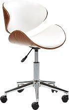 Armless Desk Chair White ROTTERDAM