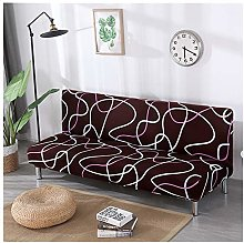 Armless Sofa Cover Floral Pattern Polyester